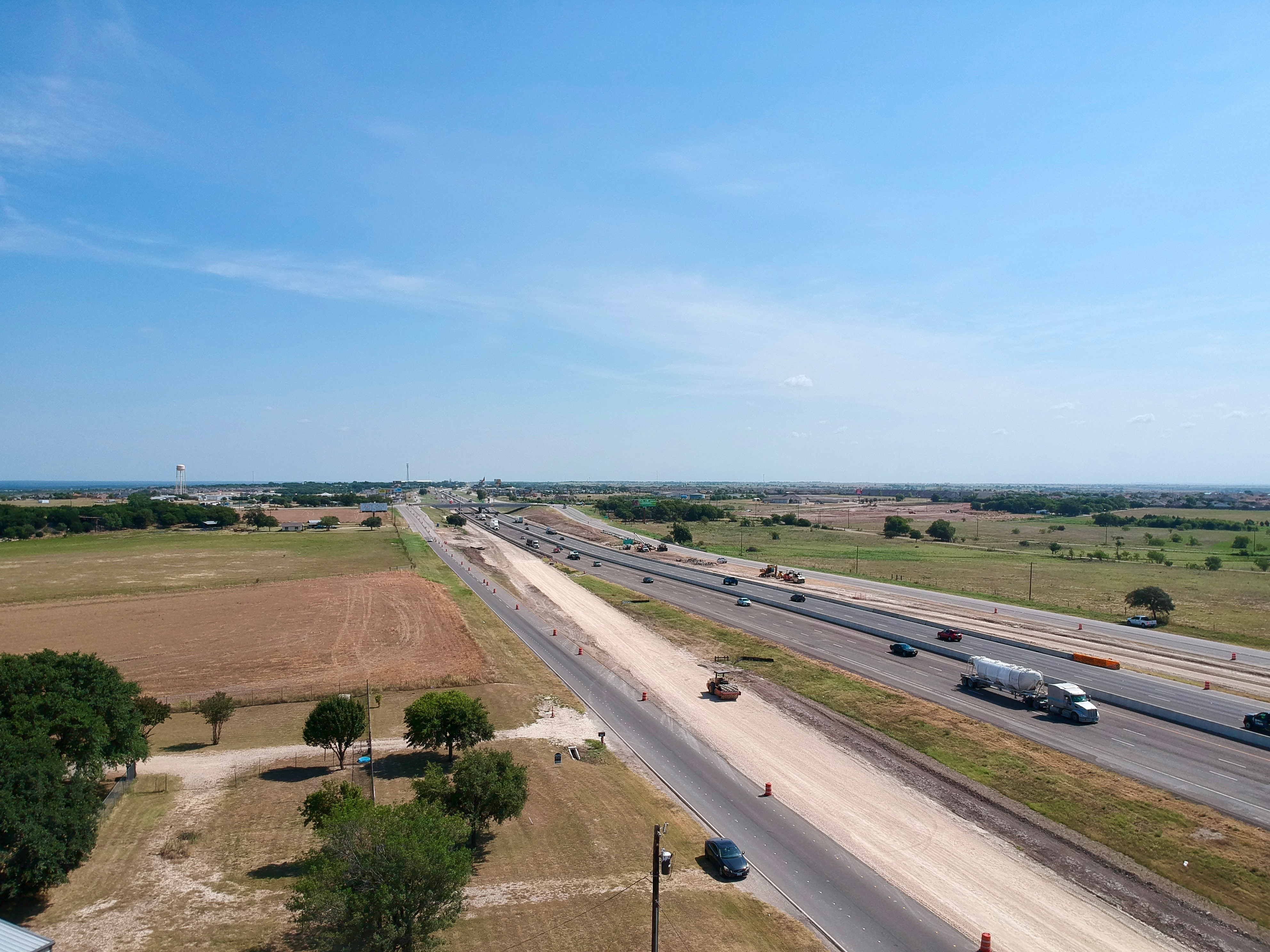 Corn Hill to FM 972 frontage road and ramp reversal progress - Aug. 2019