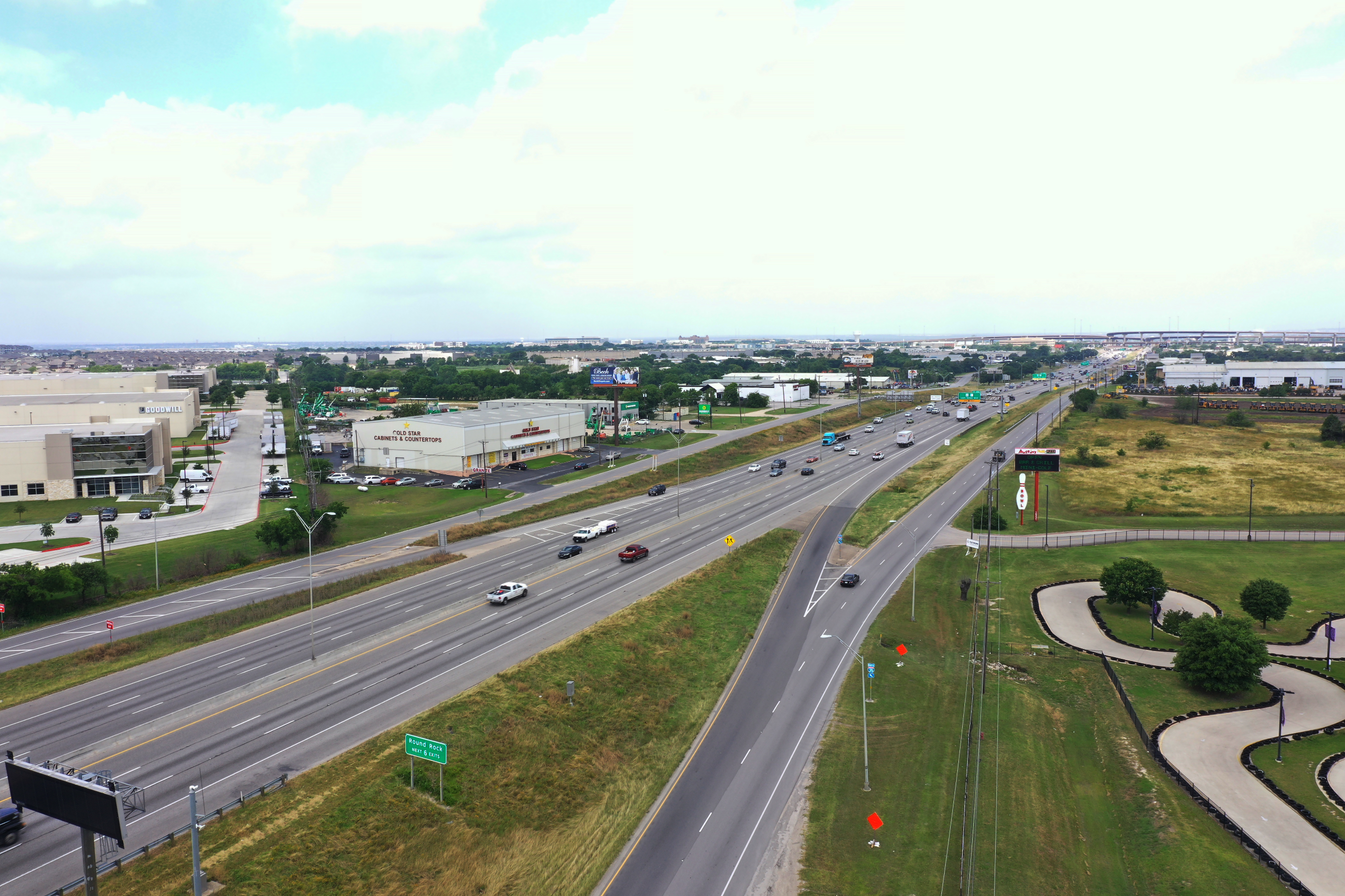 I-35 from Grand Avenue Parkway to SH 45 North ramps before