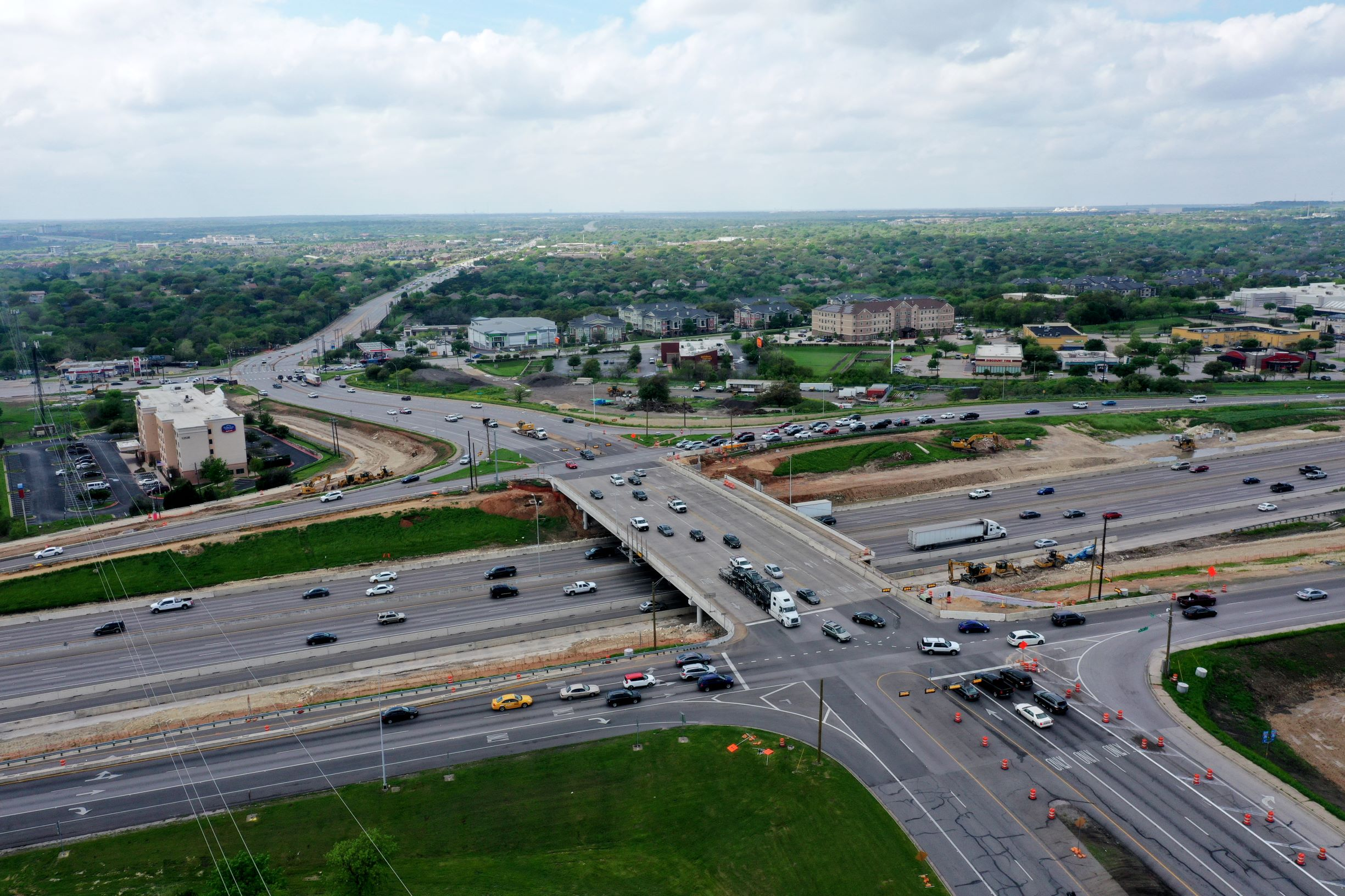 I-35 at Parmer Lane progress- March 2020
