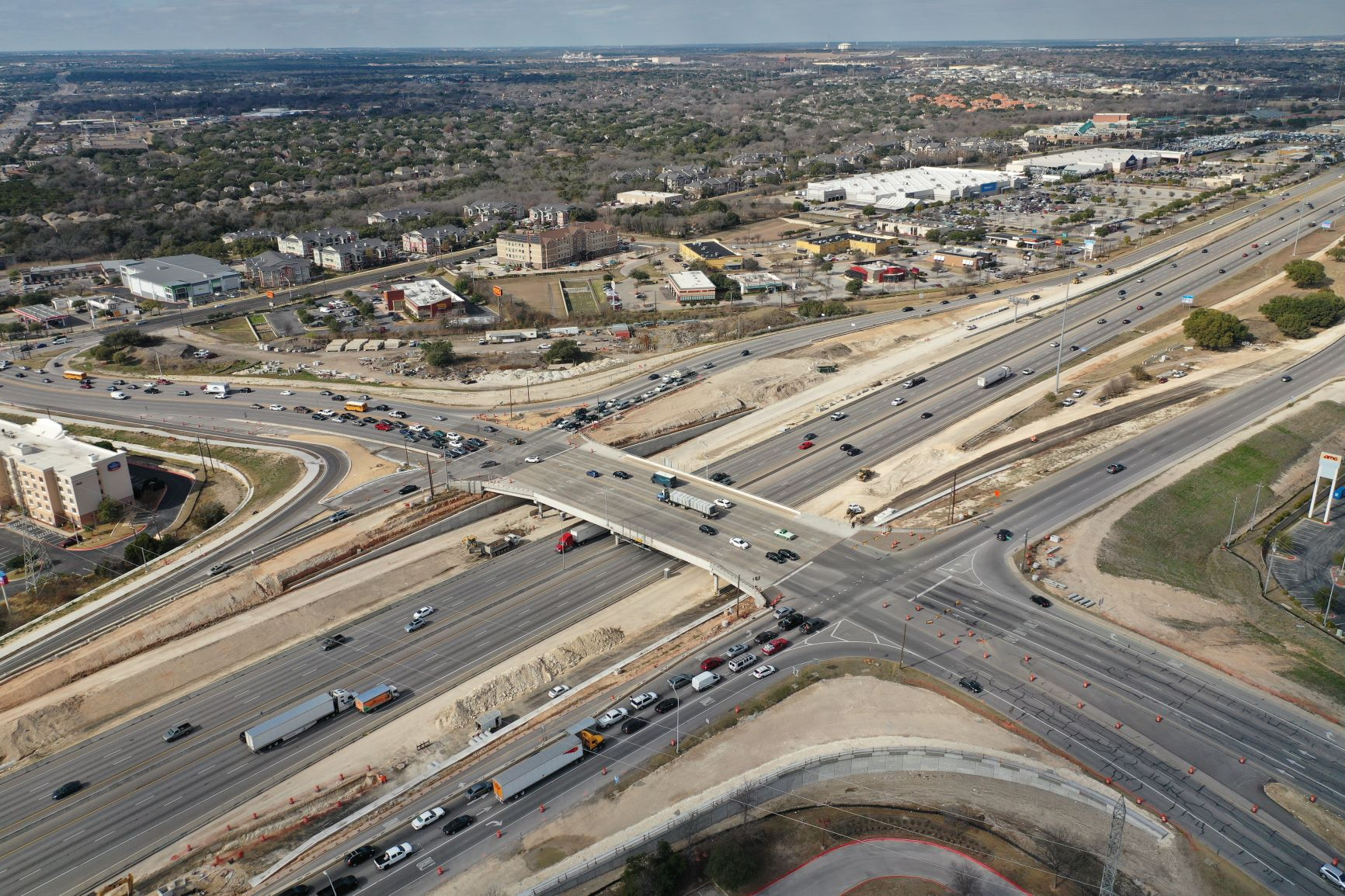 I-35 at Parmer Lane Bridge Progress - January 2021