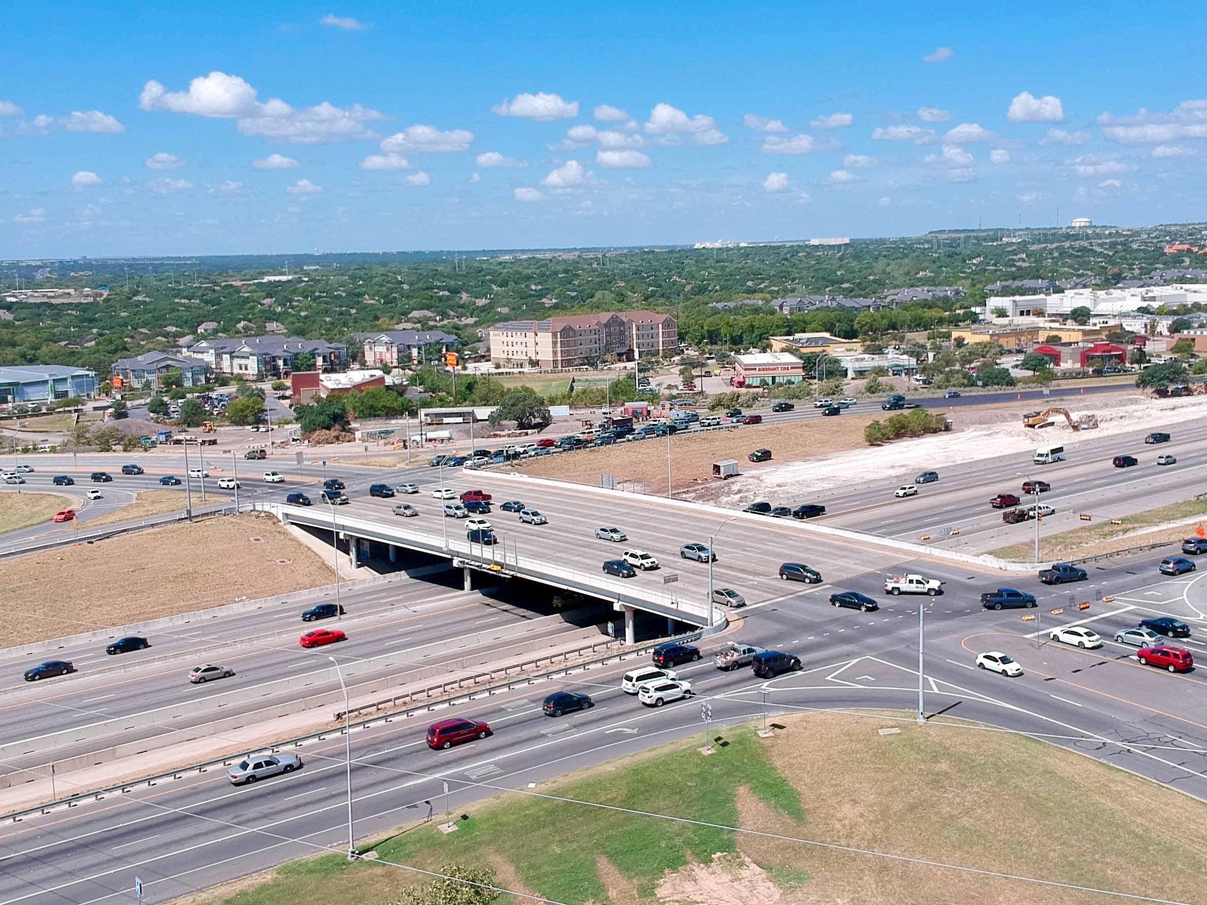 I-35 at Parmer Lane progress - September 2019