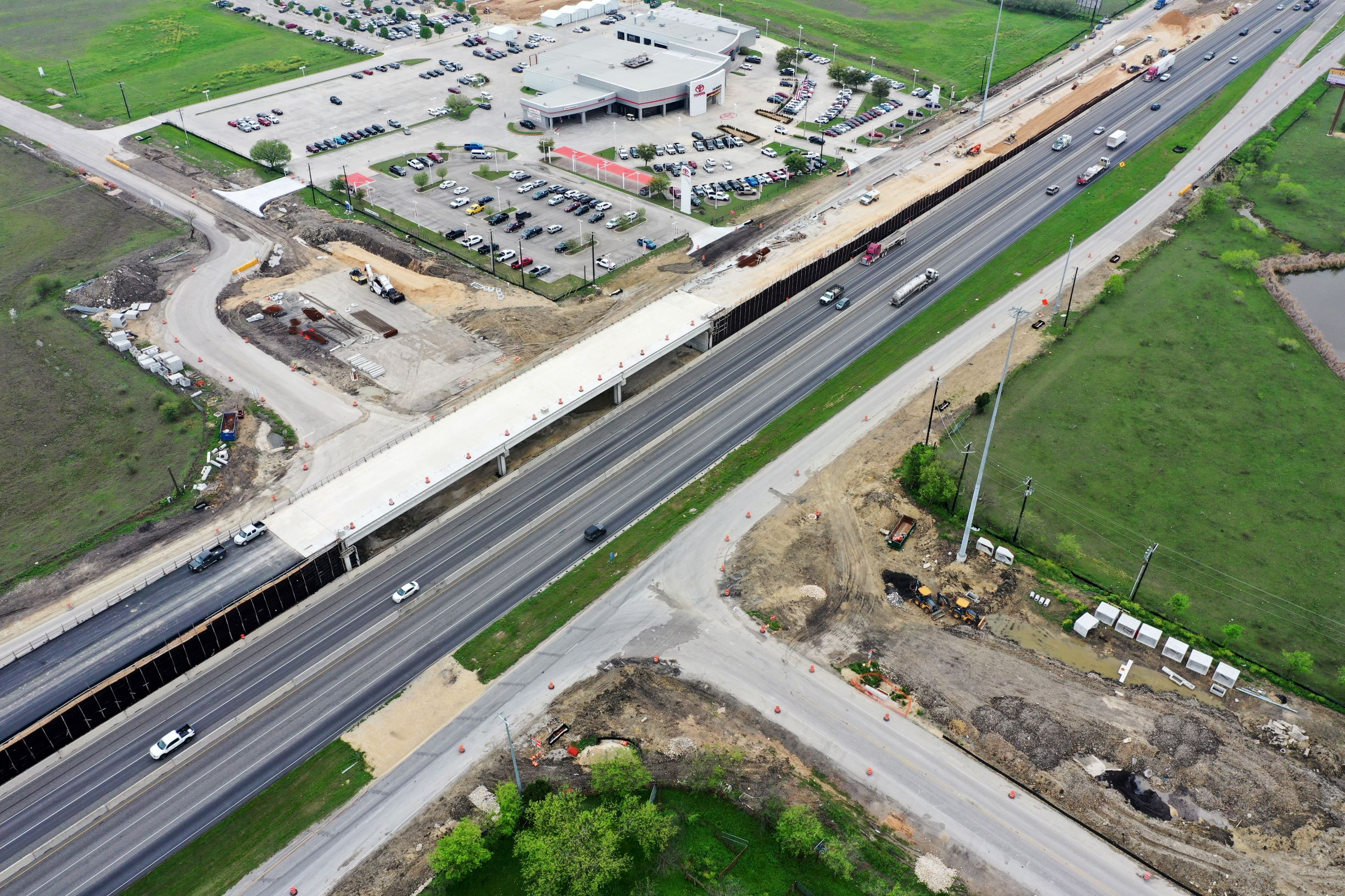I-35 at Posey Road bridge deck progress - March 2020