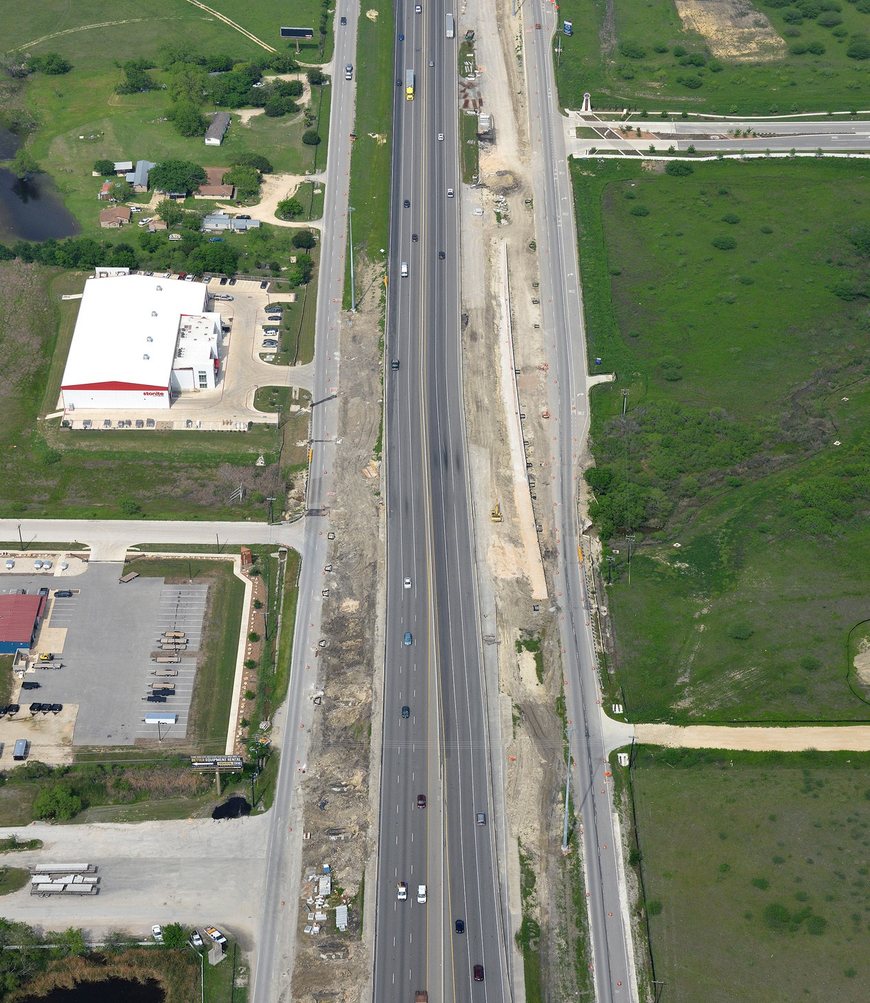 I-35 at Posey Road project progress - April 2020