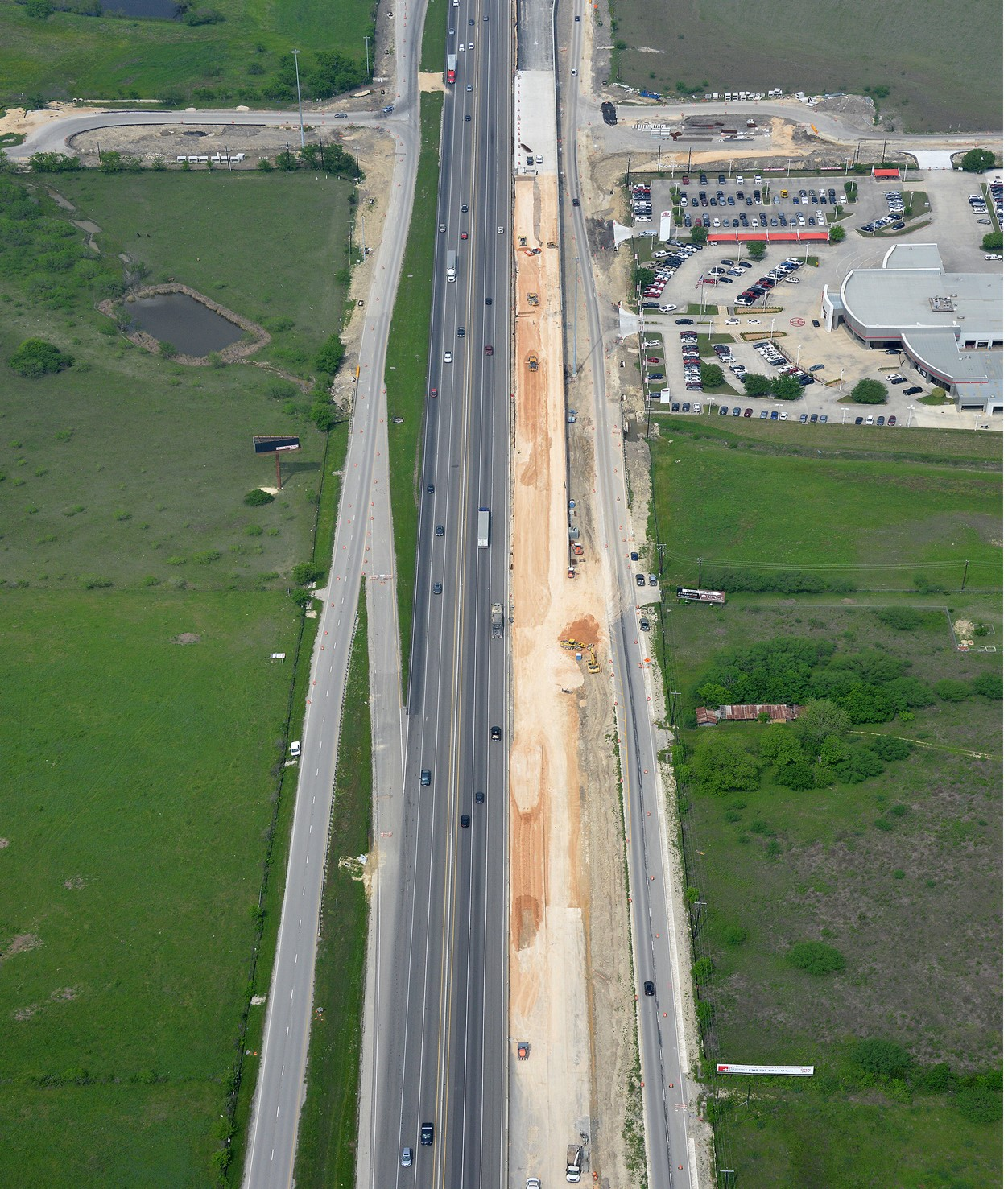 I-35 at Posey Road progress - April 2020