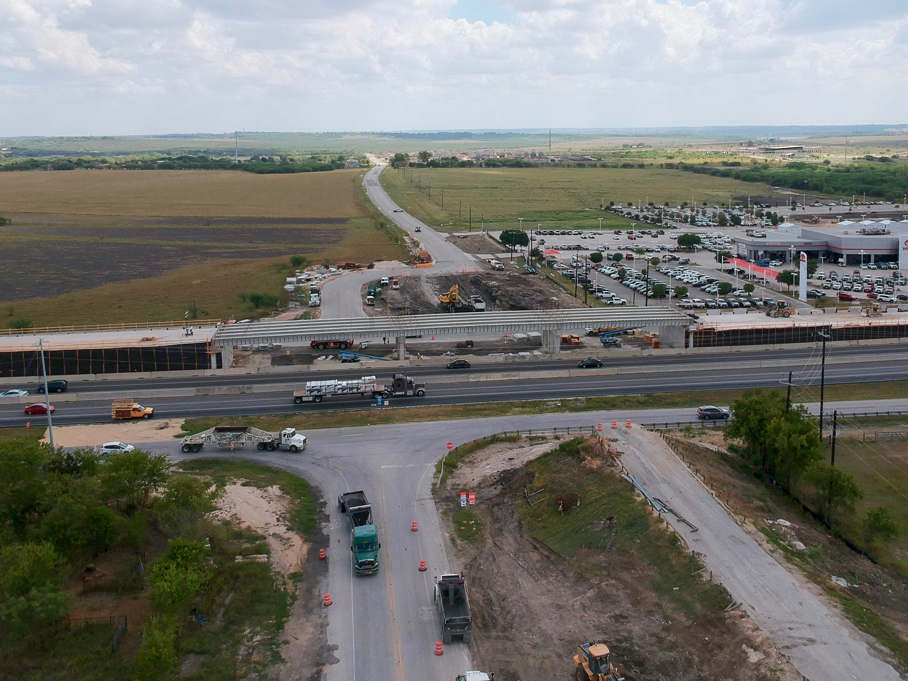 I-35 at Posey Road progress - September 2019