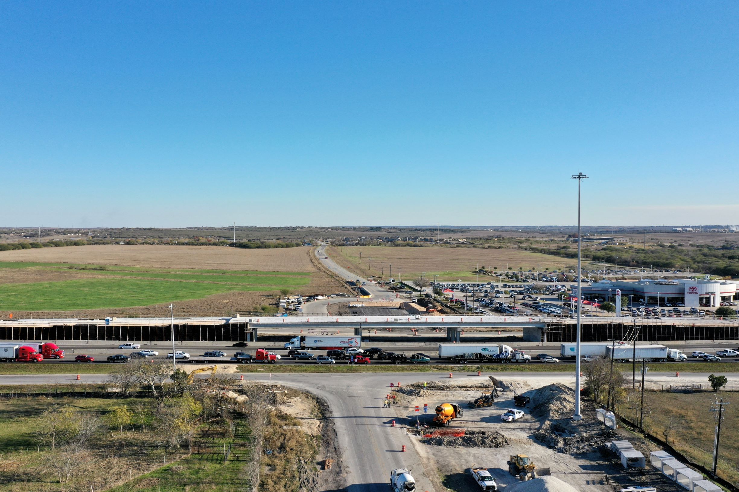 I-35 at Posey Road bridge progress - December 2019