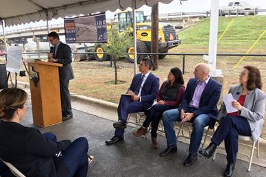 I-35 at Posey Road Groundbreaking