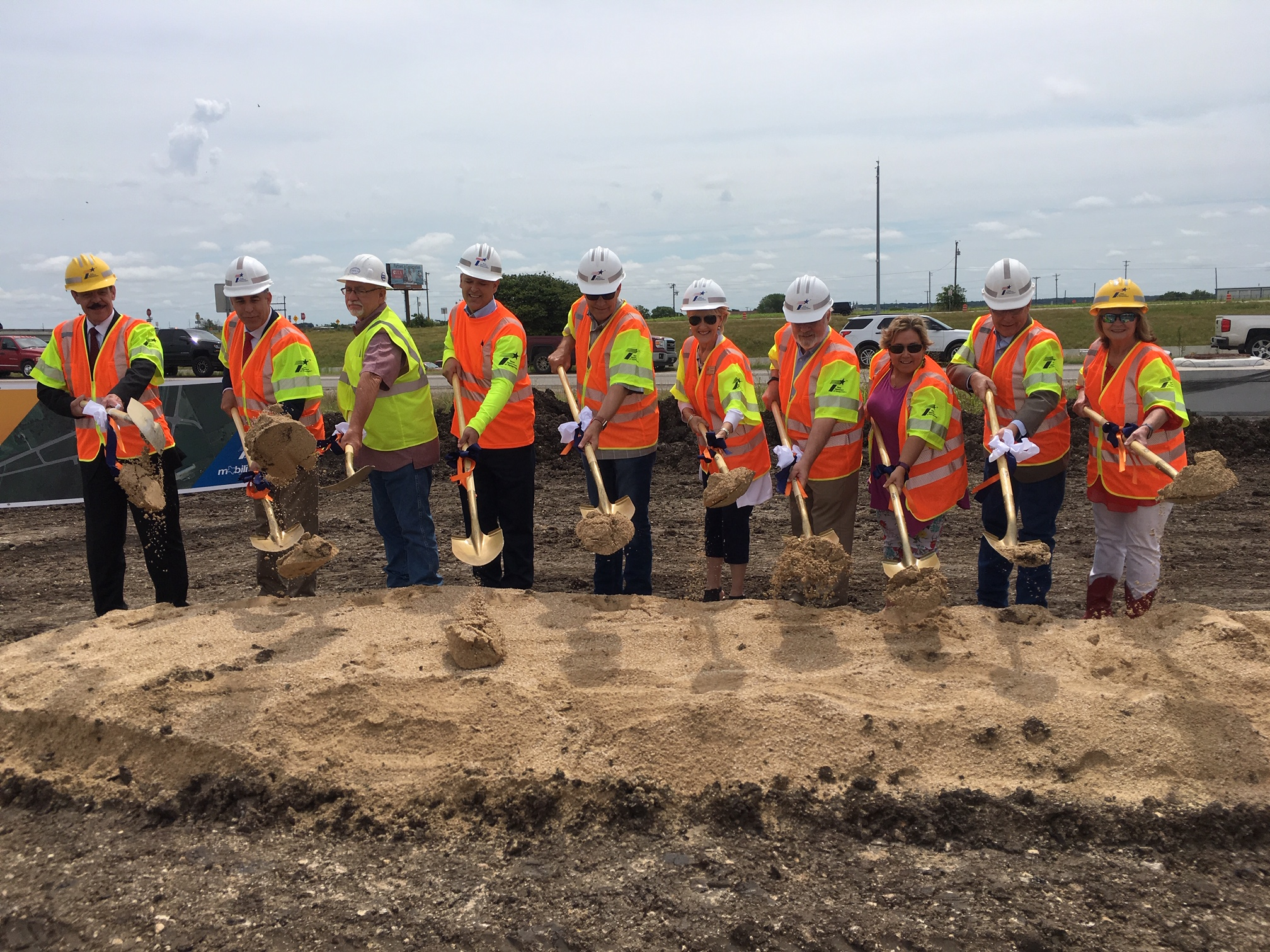 I-35 at Ronald Reagan Boulevard Groundbreaking