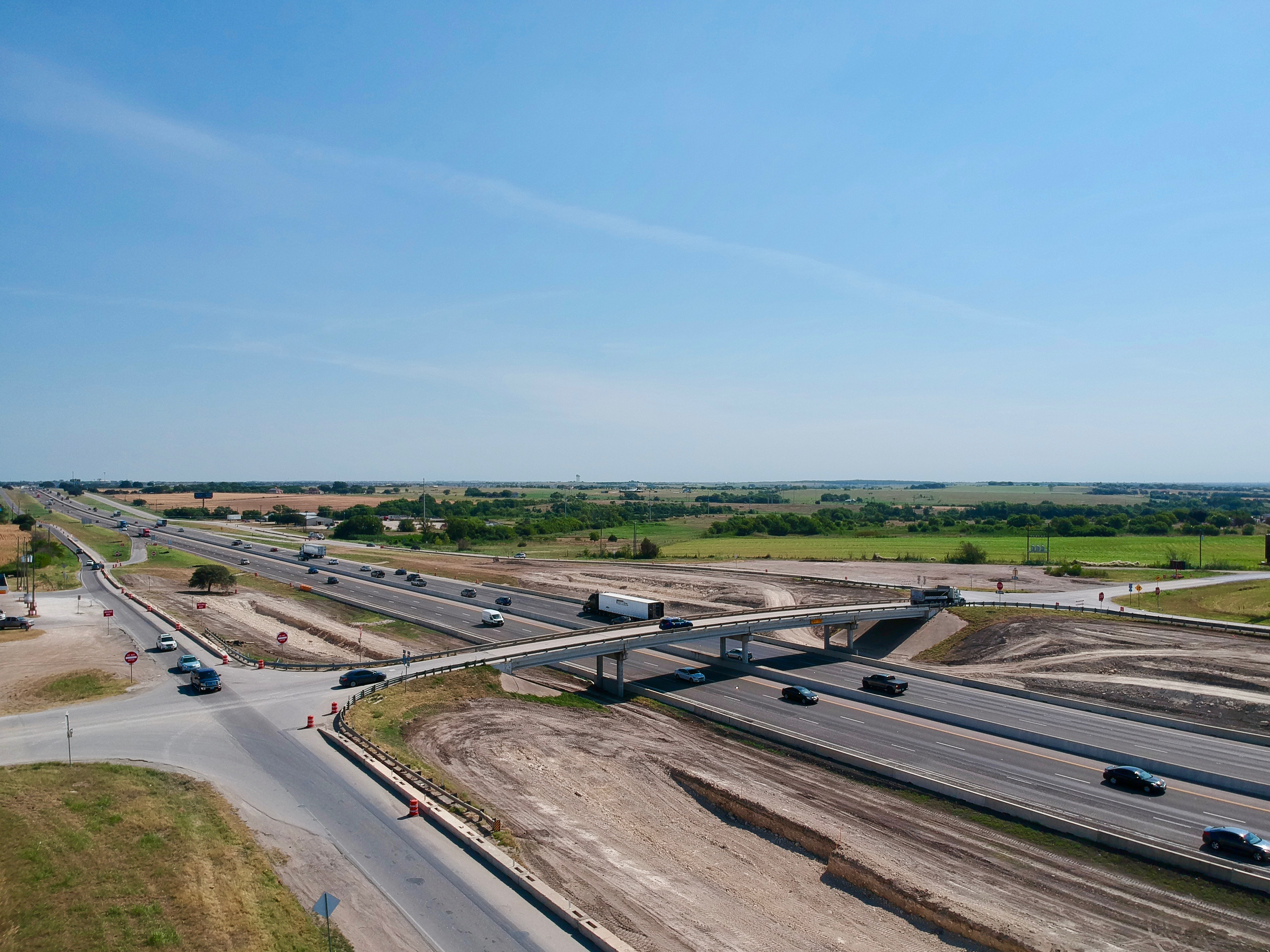 I-35 at Ronald Reagan Boulevard progress - August 2019