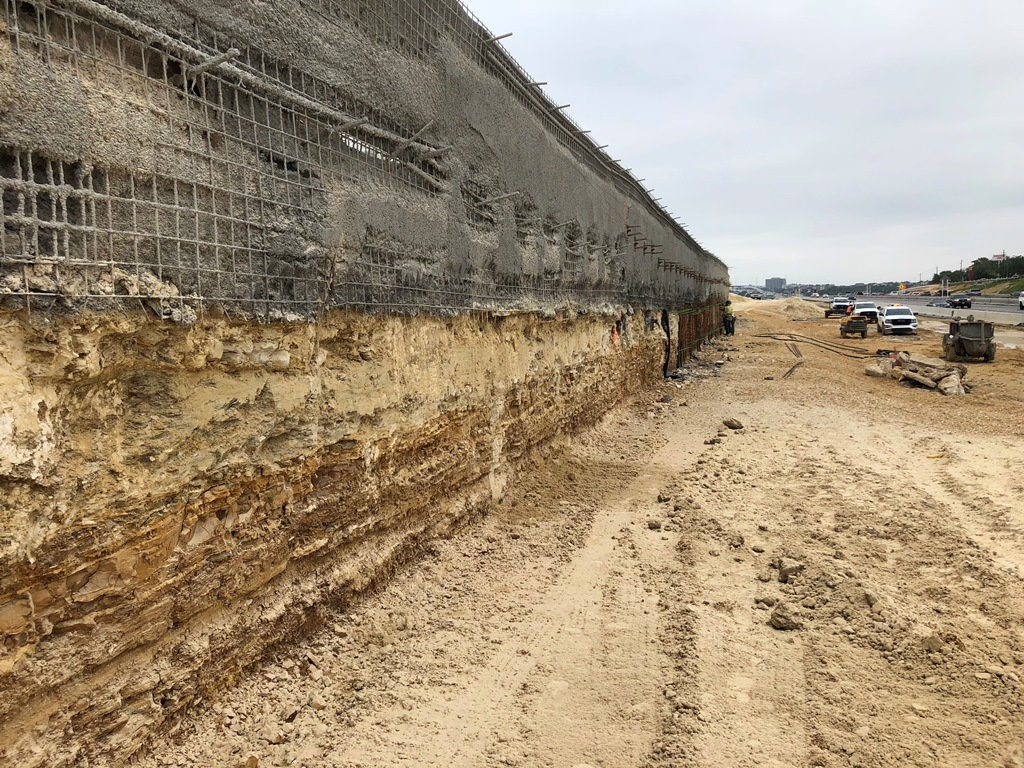 Soil Nail Wall - SBFR North of William Cannon - April 18, 2018