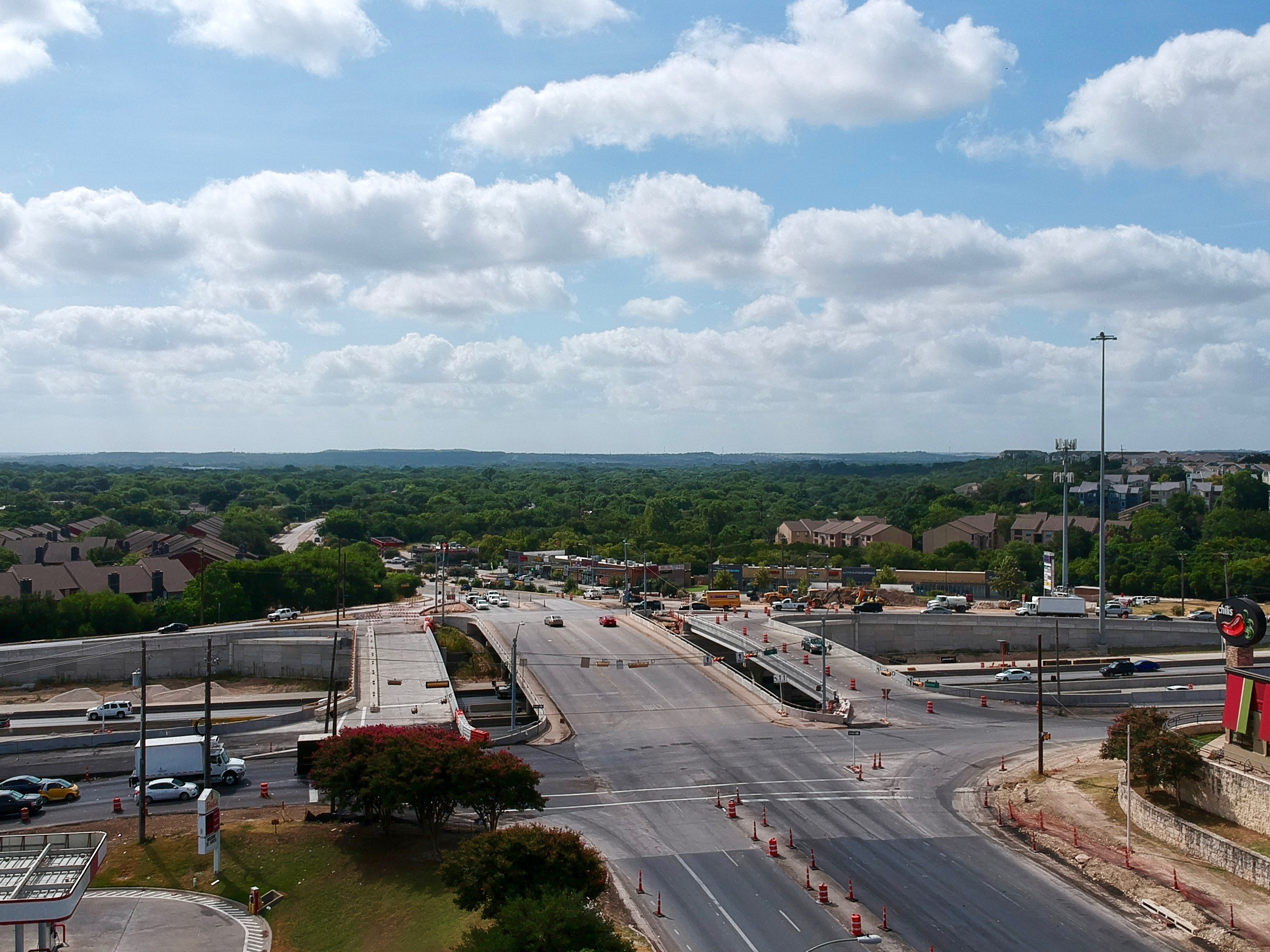 I-35 from Stassney Lane to William Cannon Drive progress - August 2019