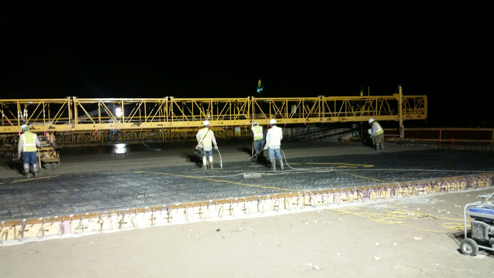 William Cannon bridge deck pour for southbound turn-around