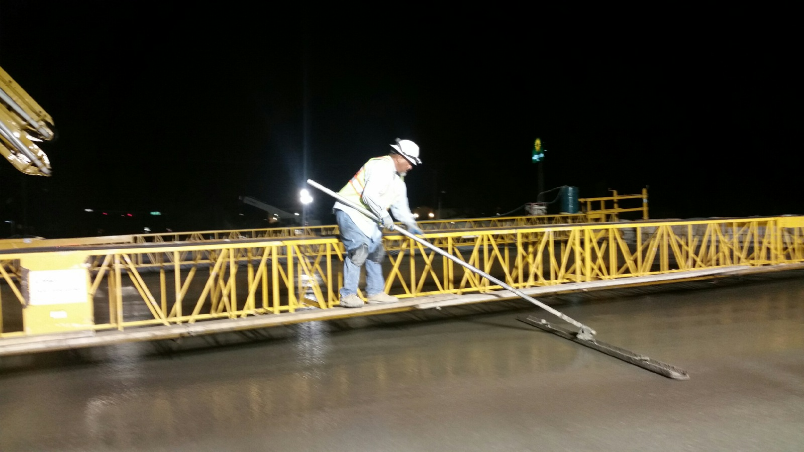 William Cannon finalizing bridge deck pour for southbound turn-around
