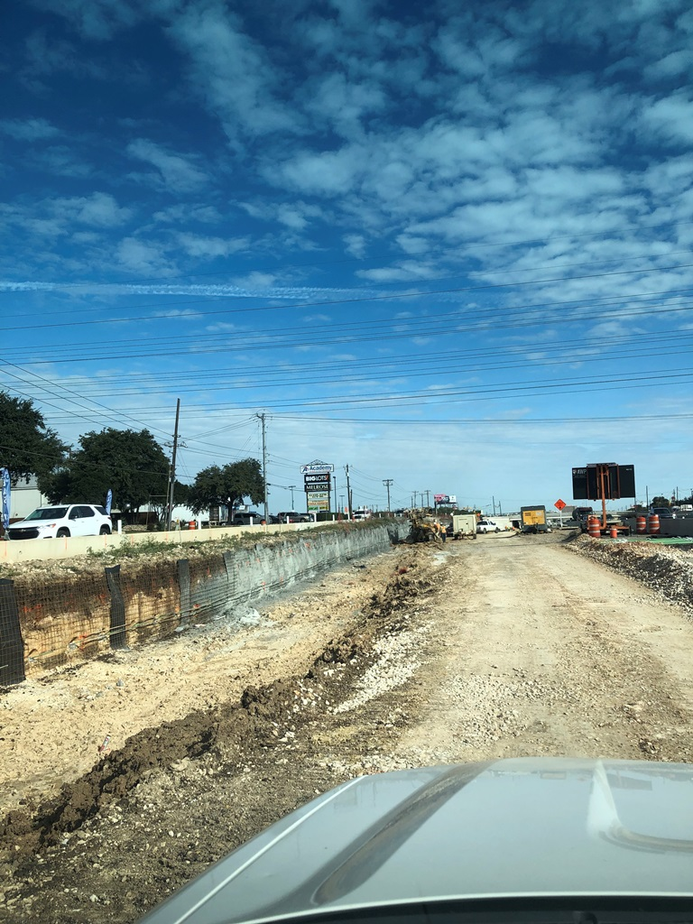 Southbound mainlane widening dirt work - December 2018