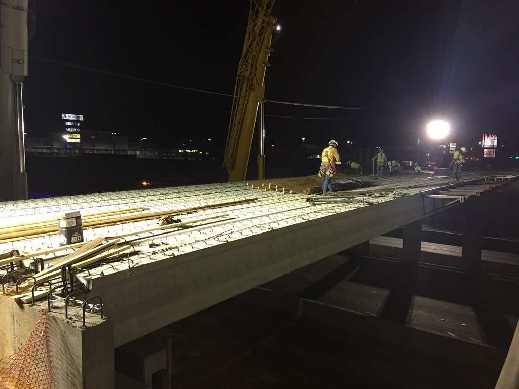 William Cannon North to South Turnaround Bridge Beam Set - March 2018